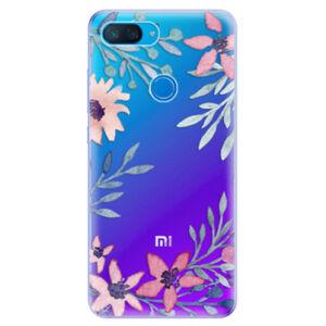 Odolné silikonové pouzdro iSaprio - Leaves and Flowers - Xiaomi Mi 8 Lite