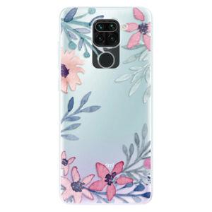 Odolné silikónové puzdro iSaprio - Leaves and Flowers - Xiaomi Redmi Note 9