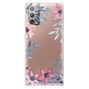 Odolné silikónové puzdro iSaprio - Leaves and Flowers - Samsung Galaxy Note 20