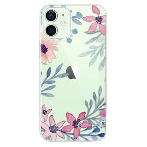 Odolné silikónové puzdro iSaprio - Leaves and Flowers - iPhone 12