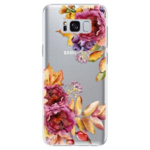 Plastové puzdro iSaprio - Fall Flowers - Samsung Galaxy S8 Plus