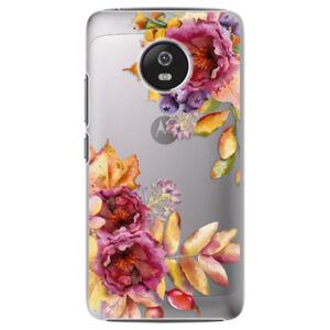 Plastové puzdro iSaprio - Fall Flowers - Lenovo Moto G5