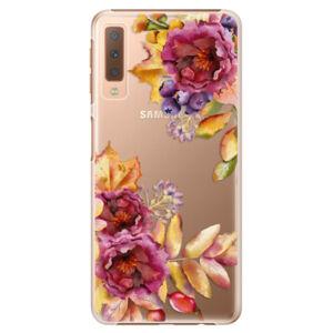 Plastové puzdro iSaprio - Fall Flowers - Samsung Galaxy A7 (2018)