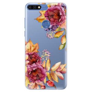 Silikónové puzdro iSaprio - Fall Flowers - Huawei Honor 7C