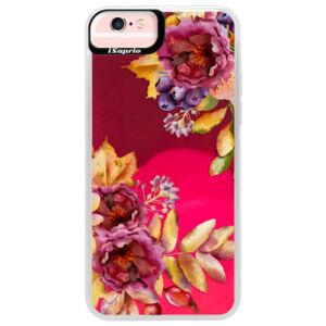 Neónové púzdro Pink iSaprio - Fall Flowers - iPhone 6 Plus/6S Plus