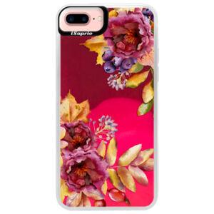 Neónové púzdro Pink iSaprio - Fall Flowers - iPhone 7 Plus