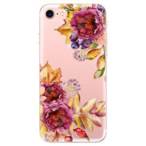 Odolné silikónové puzdro iSaprio - Fall Flowers - iPhone 7