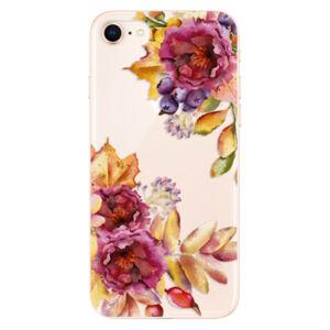 Odolné silikónové puzdro iSaprio - Fall Flowers - iPhone 8