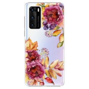 Plastové puzdro iSaprio - Fall Flowers - Huawei P40