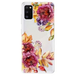Odolné silikónové puzdro iSaprio - Fall Flowers - Samsung Galaxy A41