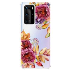 Odolné silikónové puzdro iSaprio - Fall Flowers - Huawei P40 Pro