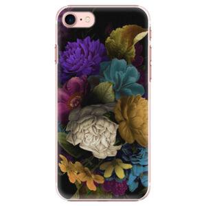 Plastové puzdro iSaprio - Dark Flowers - iPhone 7