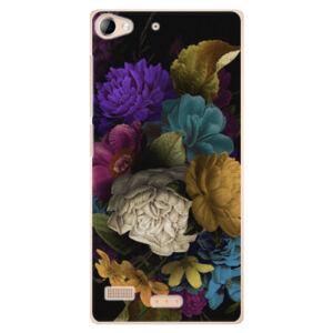 Plastové puzdro iSaprio - Dark Flowers - Sony Xperia Z2