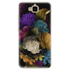 Plastové puzdro iSaprio - Dark Flowers - Huawei Y6 Pro