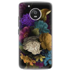 Plastové puzdro iSaprio - Dark Flowers - Lenovo Moto G5
