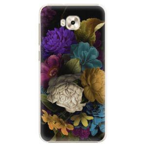 Plastové puzdro iSaprio - Dark Flowers - Asus ZenFone 4 Selfie ZD553KL