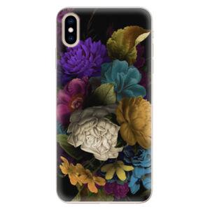 Silikónové puzdro iSaprio - Dark Flowers - iPhone XS Max