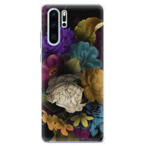 Plastové puzdro iSaprio - Dark Flowers - Huawei P30 Pro