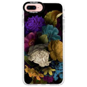 Silikónové púzdro Bumper iSaprio - Dark Flowers - iPhone 7 Plus