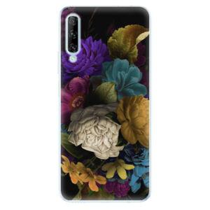 Odolné silikónové puzdro iSaprio - Dark Flowers - Huawei P Smart Pro