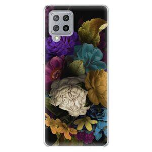 Odolné silikónové puzdro iSaprio - Dark Flowers - Samsung Galaxy A42
