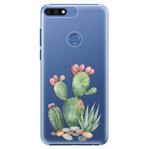 Plastové puzdro iSaprio - Cacti 01 - Huawei Honor 7C