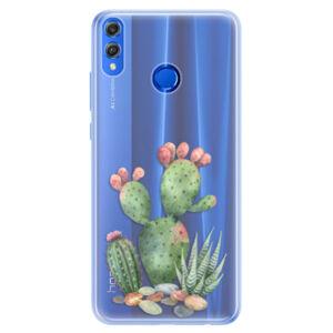 Silikónové puzdro iSaprio - Cacti 01 - Huawei Honor 8X