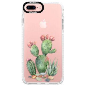 Silikónové púzdro Bumper iSaprio - Cacti 01 - iPhone 7 Plus