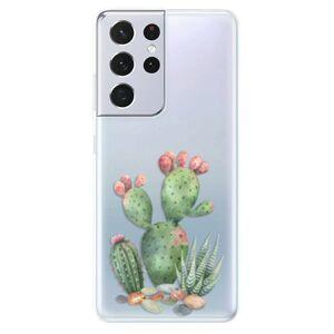 Odolné silikónové puzdro iSaprio - Cacti 01 - Samsung Galaxy S21 Ultra