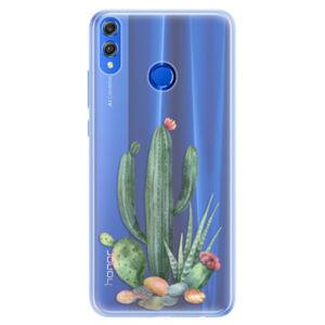 Silikónové puzdro iSaprio - Cacti 02 - Huawei Honor 8X