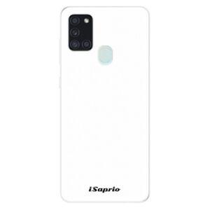 Odolné silikónové puzdro iSaprio - 4Pure - bílý - Samsung Galaxy A21s