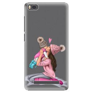 Plastové puzdro iSaprio - Kissing Mom - Brunette and Girl - Xiaomi Mi4C