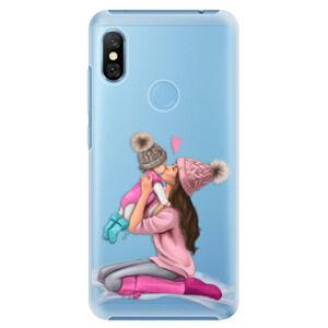 Plastové puzdro iSaprio - Kissing Mom - Brunette and Girl - Xiaomi Redmi Note 6 Pro