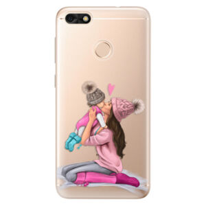 Odolné silikónové puzdro iSaprio - Kissing Mom - Brunette and Girl - Huawei P9 Lite Mini