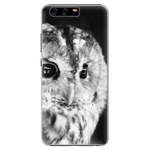 Plastové puzdro iSaprio - BW Owl - Huawei P10 Plus