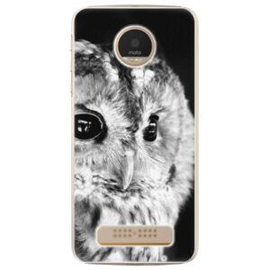 Plastové puzdro iSaprio - BW Owl - Lenovo Moto Z Play