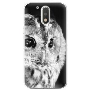 Plastové puzdro iSaprio - BW Owl - Lenovo Moto G4 / G4 Plus