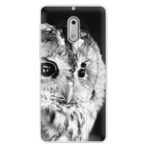 Plastové puzdro iSaprio - BW Owl - Nokia 6