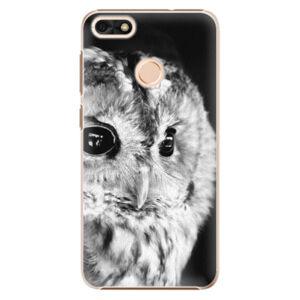 Plastové puzdro iSaprio - BW Owl - Huawei P9 Lite Mini