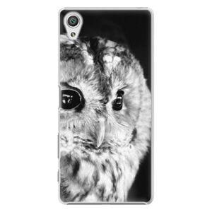 Plastové puzdro iSaprio - BW Owl - Sony Xperia X