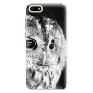 Plastové puzdro iSaprio - BW Owl - Huawei Y5 2018