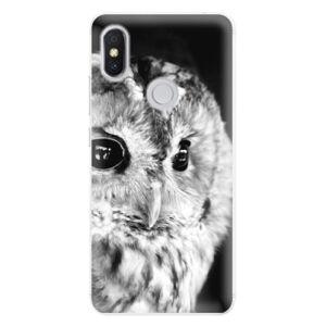 Silikónové puzdro iSaprio - BW Owl - Xiaomi Redmi S2