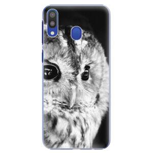 Plastové puzdro iSaprio - BW Owl - Samsung Galaxy M20