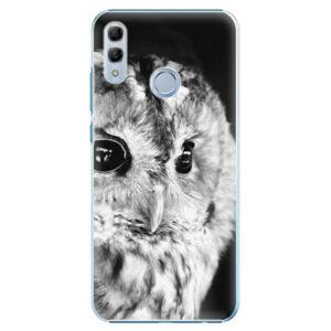 Plastové puzdro iSaprio - BW Owl - Huawei Honor 10 Lite