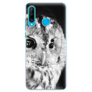 Plastové puzdro iSaprio - BW Owl - Huawei P30 Lite