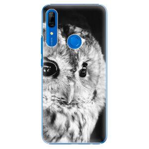 Plastové puzdro iSaprio - BW Owl - Huawei P Smart Z