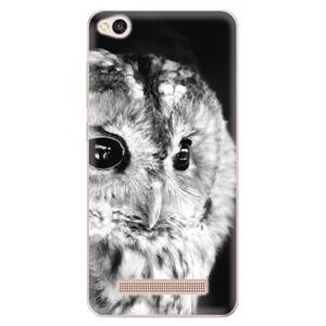 Odolné silikónové puzdro iSaprio - BW Owl - Xiaomi Redmi 4A