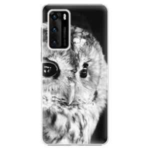 Plastové puzdro iSaprio - BW Owl - Huawei P40