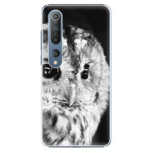 Plastové puzdro iSaprio - BW Owl - Xiaomi Mi 10 / Mi 10 Pro