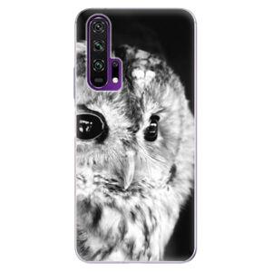 Odolné silikónové puzdro iSaprio - BW Owl - Honor 20 Pro